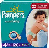 Pampers Active Baby 4+ Maxi Plus (120 шт)