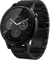 Motorola Moto 360 2nd Gen. Mens 46mm Black with Black Metal Band