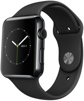 Apple Watch Edition 42mm Space Black with Black Sport Band (MLC82)