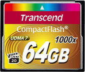 Transcend 1000x CompactFlash Ultimate 64GB (TS64GCF1000)