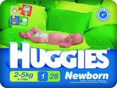 Huggies Newborn 1 (28 шт)