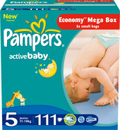 Pampers Active Baby 5 2x Economy (111 шт)