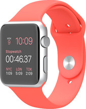 Apple Watch Sport 42mm Silver with Pink Sport Band (MJ3R2)