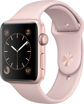 Apple Watch Series 2 42mm Rose Gold with Pink Sand Sport Band [MQ142]