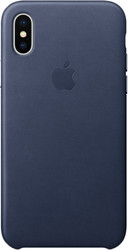 Apple Leather Case для iPhone X Midnight Blue