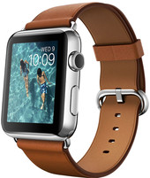 Apple Watch 42mm Stainless Steel with Saddle Brown Bracelet [MLC92]