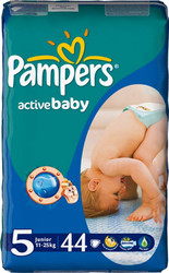 Pampers Active Baby 5 Junior (44 шт)