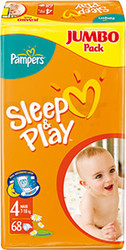Pampers Sleep&Play 4 Maxi Jumbo Pack (68 шт)