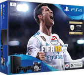 Sony PlayStation 4 Slim FIFA 18 1TB 2 геймпада (черный)