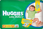 Huggies Little Walkers 4 (17 шт)