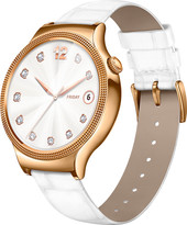 Huawei Watch Rose Gold Stainless Steel with White Italian Leather Strap
