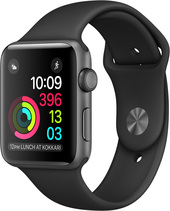 Apple Watch Series 2 42mm Space Gray with Black Sport Band [MP062]