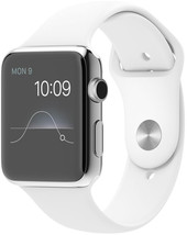 Apple Watch 42mm Stainless Steel with White Sport Band (MJ3V2)