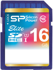 Silicon-Power SDHC Elite UHS-1 (Class 10) 16 GB (SP016GBSDHAU1V10)