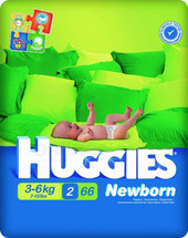 Huggies Newborn 2 (66 шт)
