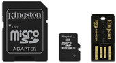 Kingston microSDHC (Class 10) 16GB + адаптер (MBLY10G2/16GB)