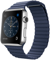Apple Watch 42mm Stainless Steel with Midnight Blue Loop [MLFC2]