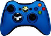 Microsoft Xbox 360 Wireless Controller Chrome Blue