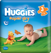 Huggies Super Dry 3 (128 шт.)