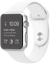 Apple Watch Sport 42mm Silver with White Sport Band (MJ3N2)