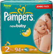 Pampers New Baby 2 Mini Jumbo Pack (94 шт)