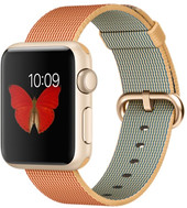 Apple Watch Gold 38mm Gold with Gold/Red Woven Nylon [MMF52]