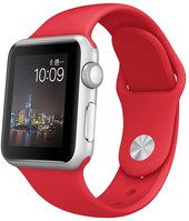 Apple Watch Sport 38mm Stainless Steel with Red Sport Band [MME92]