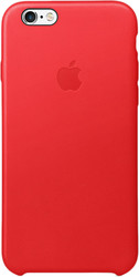 Apple Leather Case для iPhone 6 / 6s Red [MKXX2]