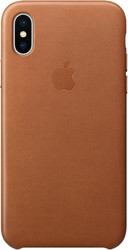 Apple Leather Case для iPhone X Saddle Brown