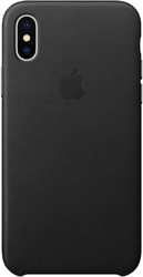 Apple Leather Case для iPhone X Black