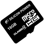 Silicon-Power microSDHC (Class 4) 16 Гб (SP016GBSTH004V10)