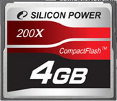 Silicon-Power 200X Professional CompactFlash 4 Гб (SP004GBCFC200V10)