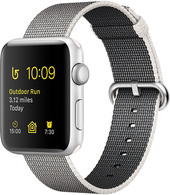 Apple Watch Series 2 42mm Silver with Pearl Woven Nylon [MNPK2]