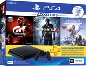 Sony PlayStation 4 Slim 500GB Horizon ZD + Uncharted 4 + GT Sport