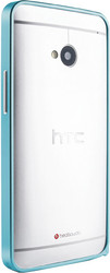 Love Mei Metal Bumper Light Blue For HTC One