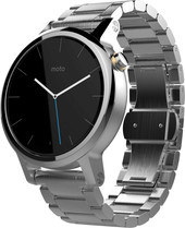 Motorola Moto 360 2nd Gen. Womens 42mm Silver with Silver Metal Band