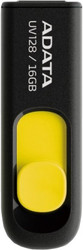 A-Data DashDrive UV128 Black/Yellow 16GB (AUV128-16G-RBY)