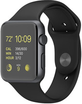 Apple Watch Sport 42mm Space Gray with Black Sport Band (MJ3T2)