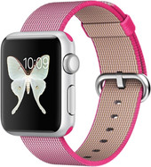 Apple Watch Sport 38mm Silver with Pink Woven Nylon [MMF32]