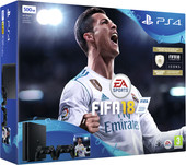 Sony PlayStation 4 Slim FIFA 18 500GB 2 геймпада (черный)