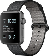 Apple Watch Series 2 42mm Space Gray with Black Woven Nylon [MP072]
