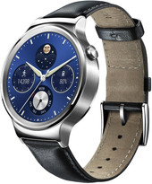 Huawei Watch Classic Stainless Steel with Black Suture Leather Strap