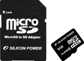 Silicon-Power microSDHC (Class 6) 8 Гб (SP008GBSTH006V10-SP)