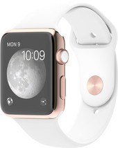 Apple Watch Edition 42mm Rose Gold with White Sport Band (MJ4A2)