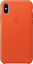 Apple Leather Case для iPhone X Bright Orange
