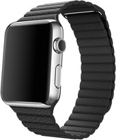 Apple Watch 42mm Stainless Steel with Black Loop (L) [MJYP2]