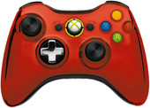 Microsoft Xbox 360 Wireless Controller Chrome Red