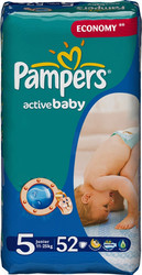 Pampers Active Baby 5 Junior (52 шт)