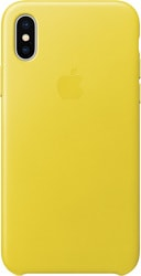 Apple Leather Case для iPhone X Spring Yellow