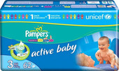 Pampers Active Baby 3 Midi (62 шт)
